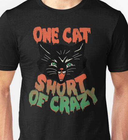 Crazy Cat Unisex T-Shirt