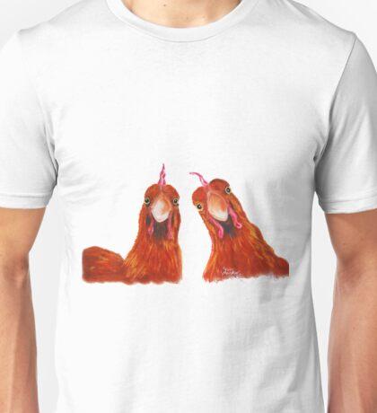 HAPPY HENS 'HARRIET & HUMBUG' BY SHIRLEY MACARTHUR Unisex T-Shirt