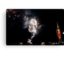 Portsmouth - Fireworks - Gunwharf - Spinnaker Tower - 31-10-2014 Canvas Print