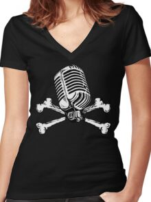 PIRATE RADIO Women's Fitted V-Neck T-Shirt