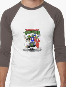 Mighty Morphin Turtles  Men's Baseball ¾ T-Shirt