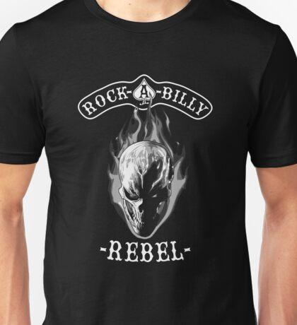 Rockabilly Rebel Skull monotone Unisex T-Shirt