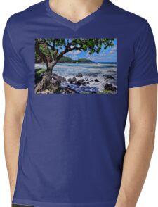 Blue Hawaii Mens V-Neck T-Shirt