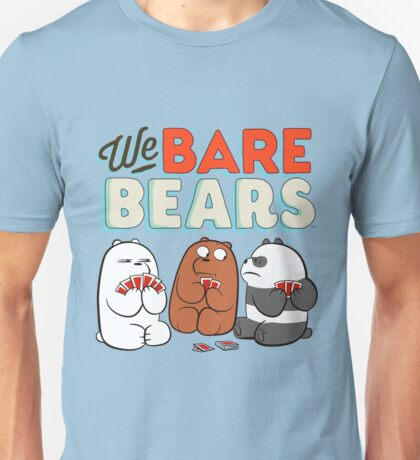 We bare Bears Cards Unisex T-Shirt