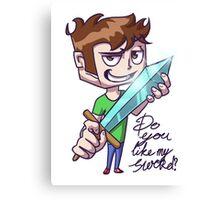 Do you like my sword?! Canvas Print