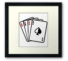 Four Aces Cards Poker Hand Framed Print