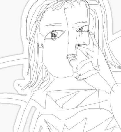Portrait of Dora Maar- Pablo Picasso Sticker
