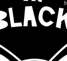 Black in Black Sticker