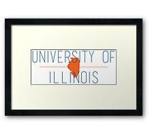 university of illinois Framed Print