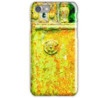 The rusty and peeling gate iPhone Case/Skin