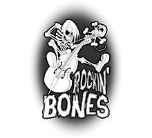 Rockin Bones - Monotone Photographic Print