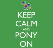 Keep Calm and Pony On - Pink / Dark Red Kids Clothes