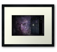 Steampunk Dr Who & Tardis Framed Print