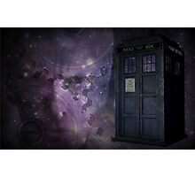 Steampunk Dr Who & Tardis Photographic Print