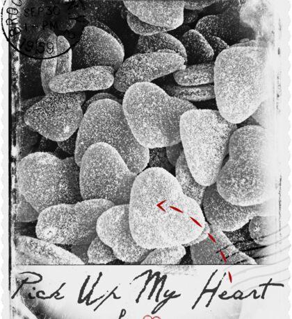 Pick Up My Heart (BW) Sticker