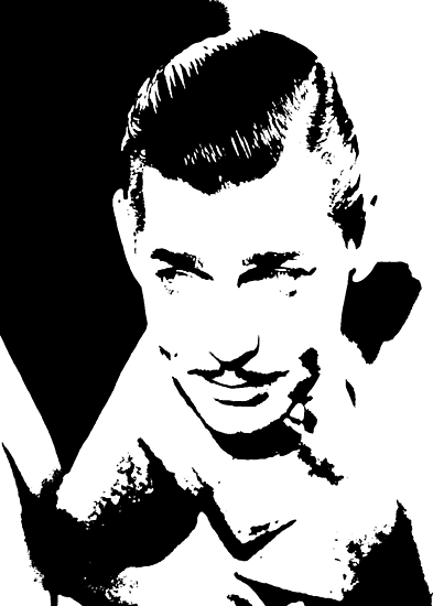 Clark Gable Looks Interested by Museenglish