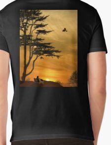 Girl On A Bench At Sunset Mens V-Neck T-Shirt