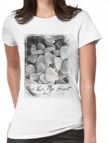 Pick Up My Heart (BW) Womens Fitted T-Shirt