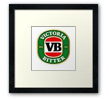 VICTORIA BITTER NEW DESIGN Framed Print