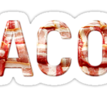 Bacon - Glass Lettering - Woven Strips Photograph Sticker