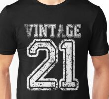 Vintage 21 2021 1921 T-shirt Birthday Gift Age Year Old Boy Girl Cute Funny Man Woman Jersey Style Unisex T-Shirt