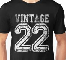 Vintage 22 2022 1922 T-shirt Birthday Gift Age Year Old Boy Girl Cute Funny Man Woman Jersey Style Unisex T-Shirt