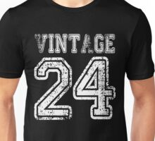 Vintage 24 2024 1924 T-shirt Birthday Gift Age Year Old Boy Girl Cute Funny Man Woman Jersey Style Unisex T-Shirt