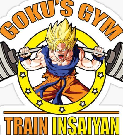 Goku's Gym - Train Insaiyan - Squat - Leg Day Sticker