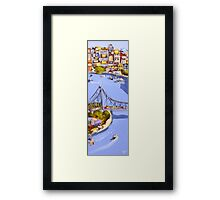 Blue water Framed Print