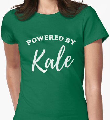 Powered by Kale Womens Fitted T-Shirt