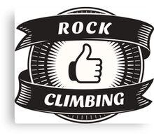 Like Rock Climbing Canvas Print