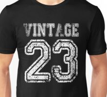 Vintage 23 2023 1923 T-shirt Birthday Gift Age Year Old Boy Girl Cute Funny Man Woman Jersey Style Unisex T-Shirt