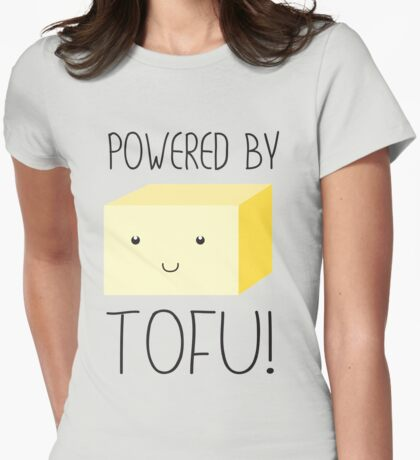 Powered by Tofu Womens Fitted T-Shirt
