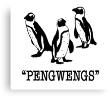 """""""Pengwengs"""" Canvas Print"""