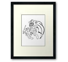 Link Vs Ganandorf Ocarina of Time Framed Print