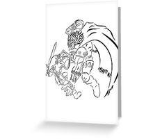 Link Vs Ganandorf Ocarina of Time Greeting Card