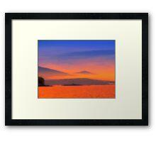 Bright Evening Framed Print