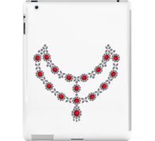 Two strand ruby necklace iPad Case/Skin