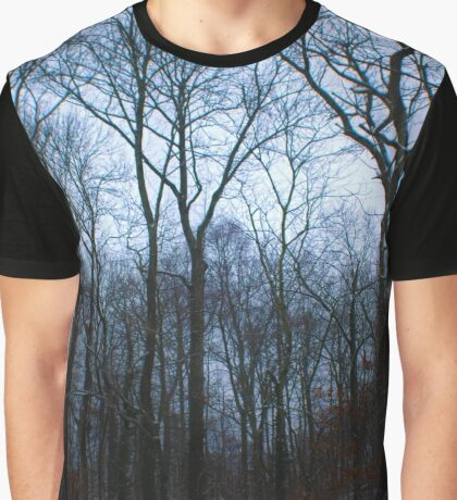 Snow Filled Woods Graphic T-Shirt