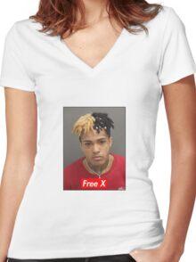 Free X - xxxtentacion Women's Fitted V-Neck T-Shirt