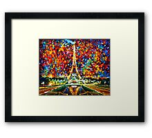 paris of my dreams - Leonid Afremov Framed Print