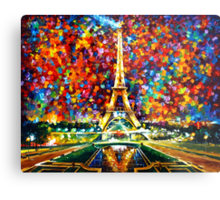 paris of my dreams - Leonid Afremov Metal Print