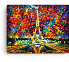 paris of my dreams - Leonid Afremov Canvas Print
