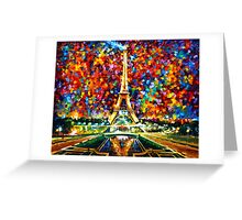 paris of my dreams - Leonid Afremov Greeting Card