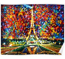 paris of my dreams - Leonid Afremov Poster