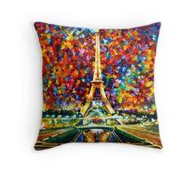 paris of my dreams - Leonid Afremov Throw Pillow