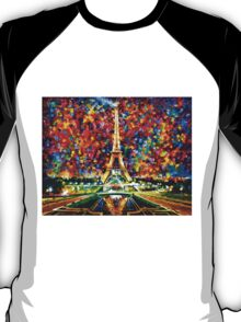 paris of my dreams - Leonid Afremov T-Shirt