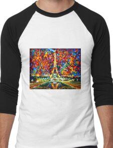 paris of my dreams - Leonid Afremov Men's Baseball ¾ T-Shirt