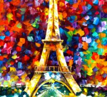 paris of my dreams - Leonid Afremov Sticker