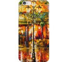 Misty Cafe - Leonid Afremov iPhone Case/Skin